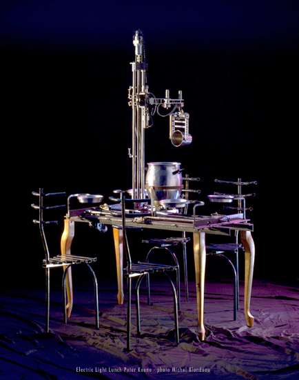 robotic table, performance food art Peter Keene