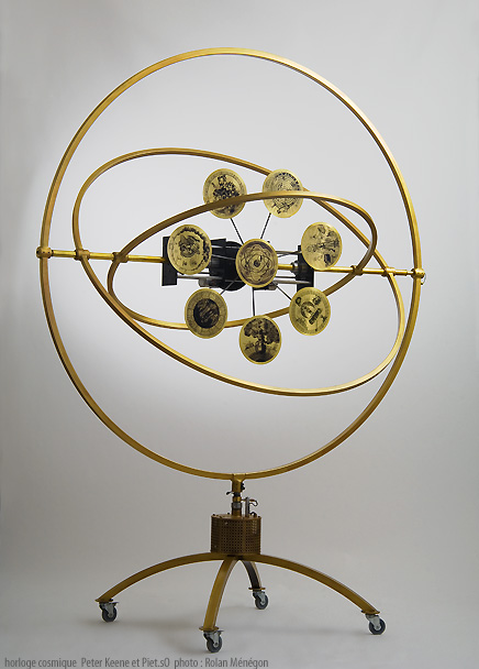 cosmic clock by Peter Keene and Piet.sO, contemporary art, art and science 2007